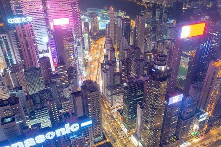 18 Oct 2019 , the Causeway Bay at night hong kong  Imagens