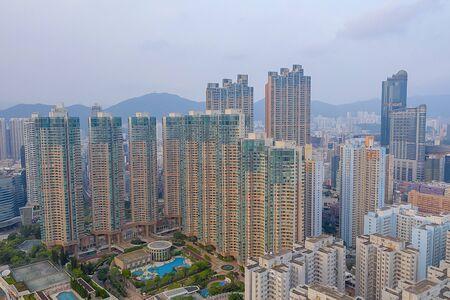 26 de octubre de 2019 Drone sobrevuela la ciudad de Hong Kong