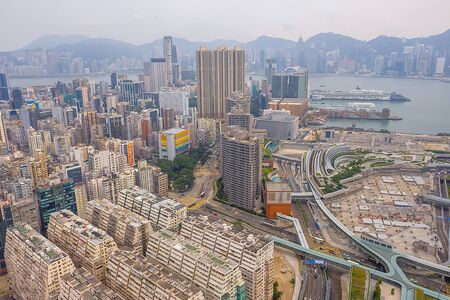 26 Oct 2019 Drone fly over Hong Kong city