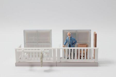 the mini figure at the Open terrace