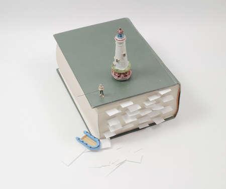 the fun of mini figure fish on the book
