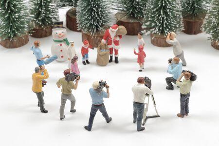 film marker of Santa Claus Ceramic Figure Christmas