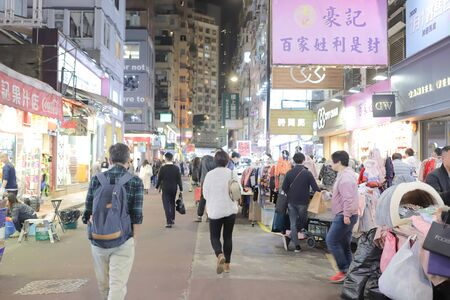 ight street market at lee garden road 23 Dec 2019 n 写真素材