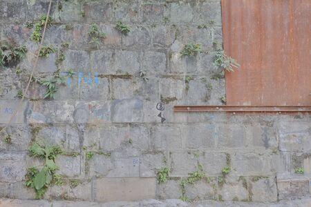 the old Stone wall at out door at hong kong   24 jan 2020