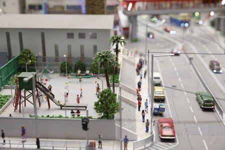 a fun of scale theme Park figure. Cityminiature, city.