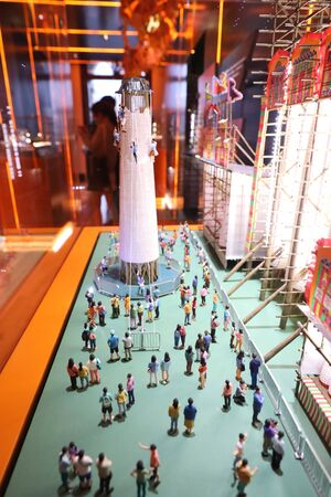 the sacle of model of the Piu Sik and Bun Scrambling Competition 版權商用圖片