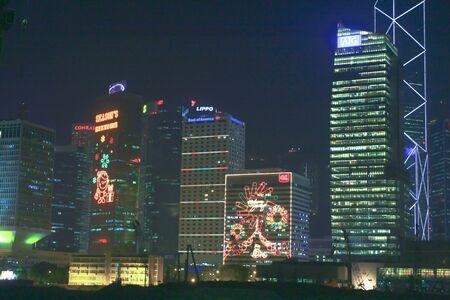 16 dec 2008 Hong Kong Night View At Christmas