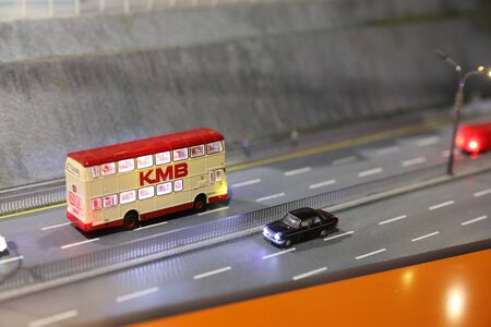 a Landmarks and miniature figures scaled at hong kong