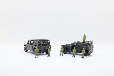 Toy soldiers, the scale Plastic toy soldiers