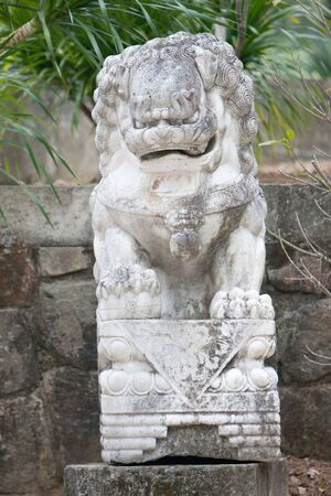 traditional chinese lion in Thai Buddhism temple