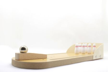 a scale of bowling wooden floor with lane, Generic Bowling