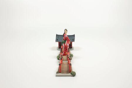 the figure of Senso ji temple at the white board
