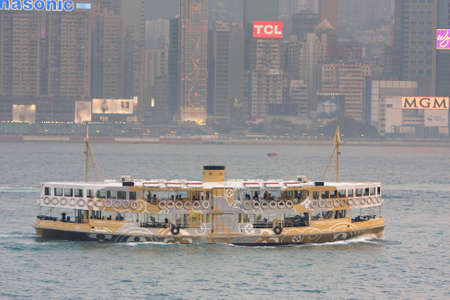 the LV adv Star Ferry in Hong Kong. 16 March 2008