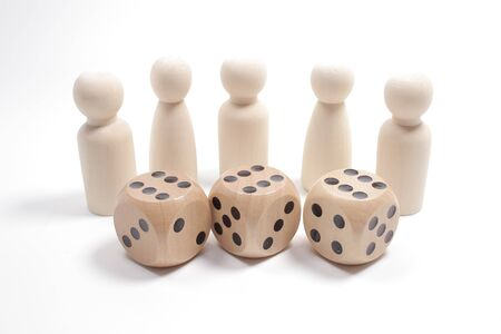 the fun of figure, Board Game Pieces and Dice.