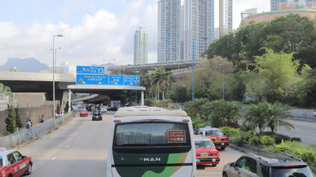 the hong kong road system at city scape