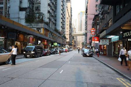 the city view of Shek Tong Tsui hong kong 29 April 2020