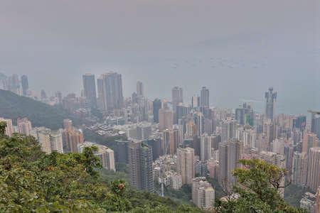 the peak view of island west, hong kong  30 Oct 2020 Imagens