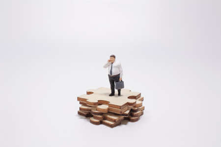 Business success strategy with collaboration, teamwork or negotiation jigsaw key