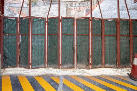 27 Nov 2020 the Building construction site gate at hong kong