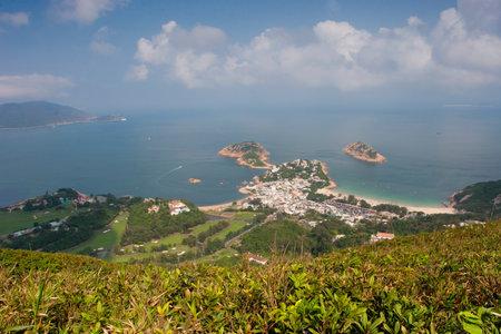 23 April 2006 View of sea and mountain, Shek O, Hong Kong Imagens