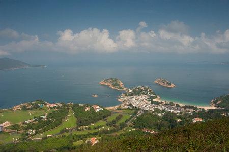 23 April 2006 View of sea and mountain, Shek O, Hong Kong