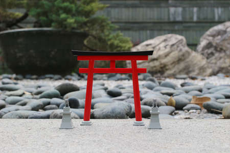 torii gate, japanese gate, isolated on outdoor