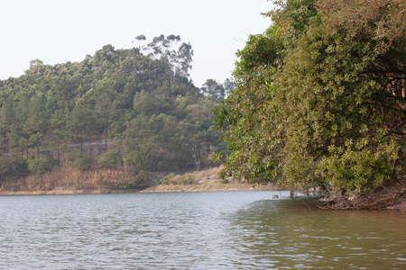Lau Shui Heung Reservoir in Hong Kong. Countryside landscape