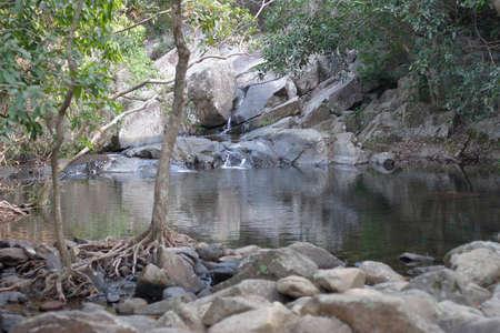 River deep in mountain country park at hong kong