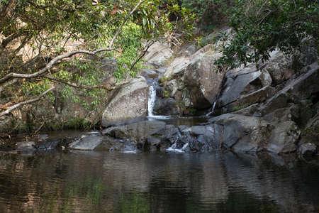 a river at the country park at hong kong Stock Photo