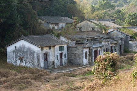 a Sha Lo Tung Cheung Uk, Old houses in a village Stock Photo
