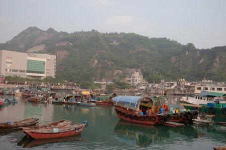 Boats in the Sam Ka Tsuen typhoon shelter harbo 12 Nov 2006