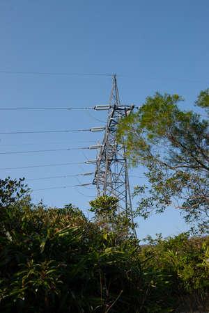 25 Dec 2006 Electric Power Utility Pole On blue Sky