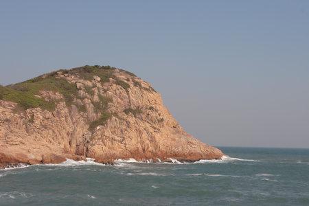 View of sea and mountain, Shek O, Wan Chai, Hong Kong Imagens
