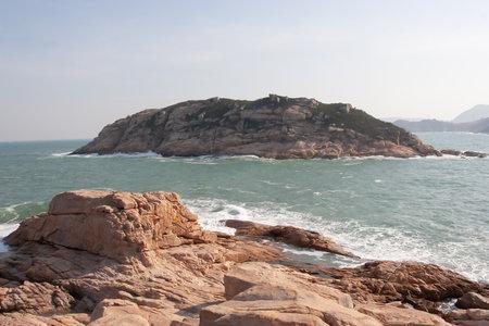 View of sea and mountain, Shek O, Hong Kong