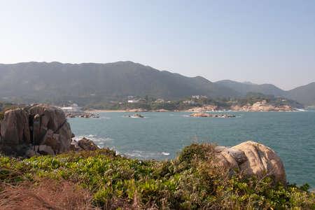 The landscape of tai tau chau, shek o Imagens