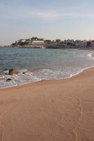 sun shine at beach at sunny afternoon, shek o