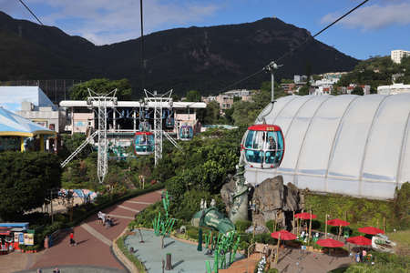 18 Nov 2020 Cable car at ocean park hong kong. Holiday, cage. Editorial