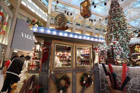 27 Nov 2020 Christmas decorations at the Landmark shopping mall in Hong Kong. Editorial