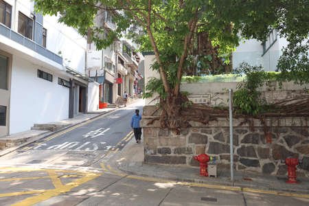 26 March 2021 the slope road at Aberdeen Street, hong kong