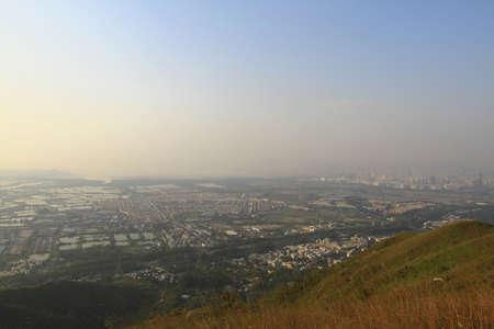 Tai Sang Wai and Fairview Park, view at kai kung leng Stock fotó