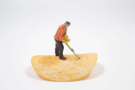 the Mini worker are working with potato chip