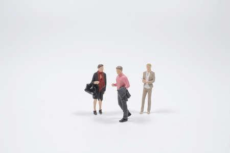 the mini of the business figure, Boss and secretary