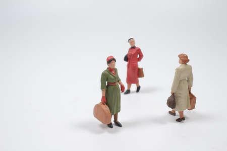 the group of mini figure walk at  terminal