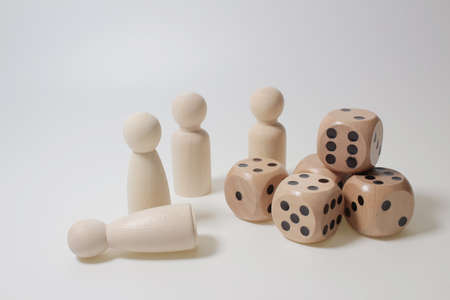 the figure, Board game figures and dice