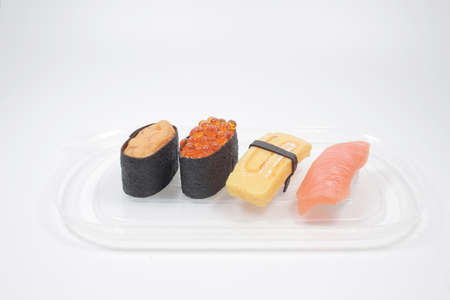 Asia And Food On Sushi, take away box