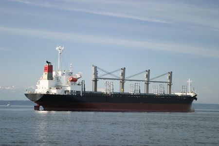 superstructure: Cargo Freighter At Anchor