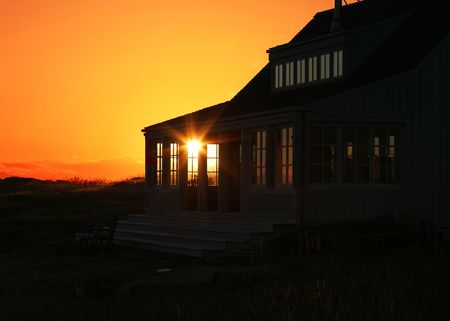 Sunset Through Vacation Home