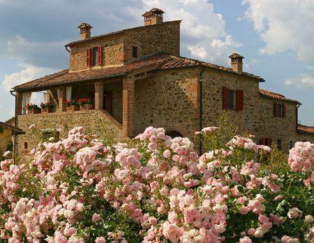 Villa in Toscane Stockfoto - 338602