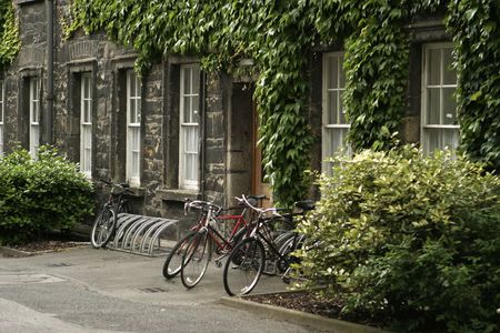 Three bicycles at Ivy League College