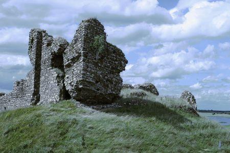 Ancient Irish castle ruins